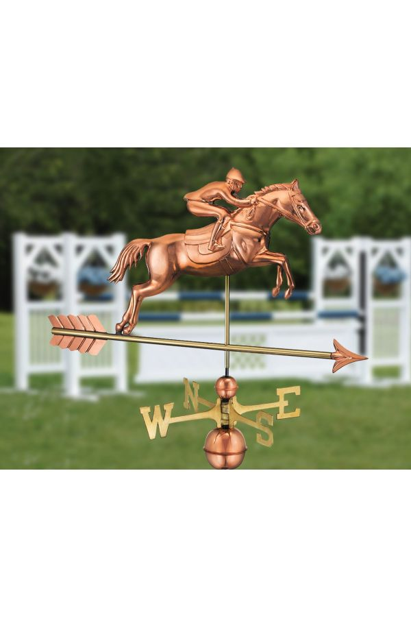 Jumping Horse & Rider Weather Vane