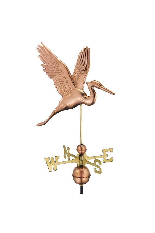 Graceful Blue Heron Weather Vane