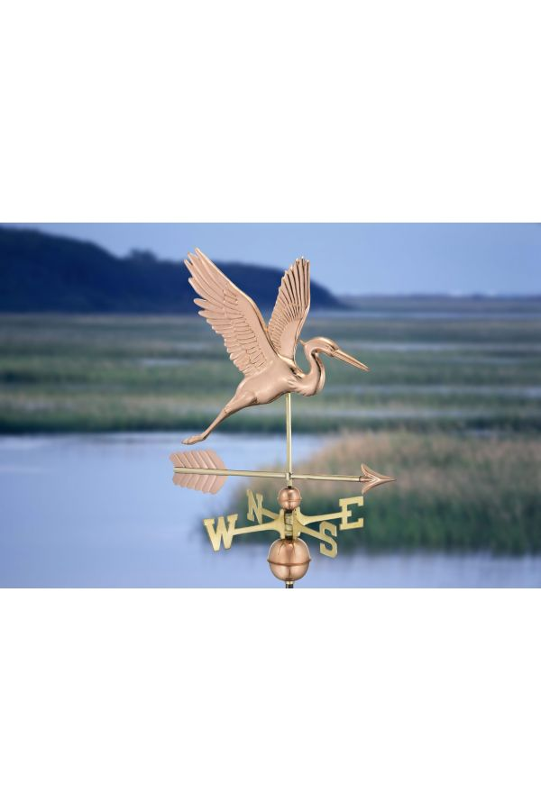 Graceful Blue Heron Weather Vane w/Arrow
