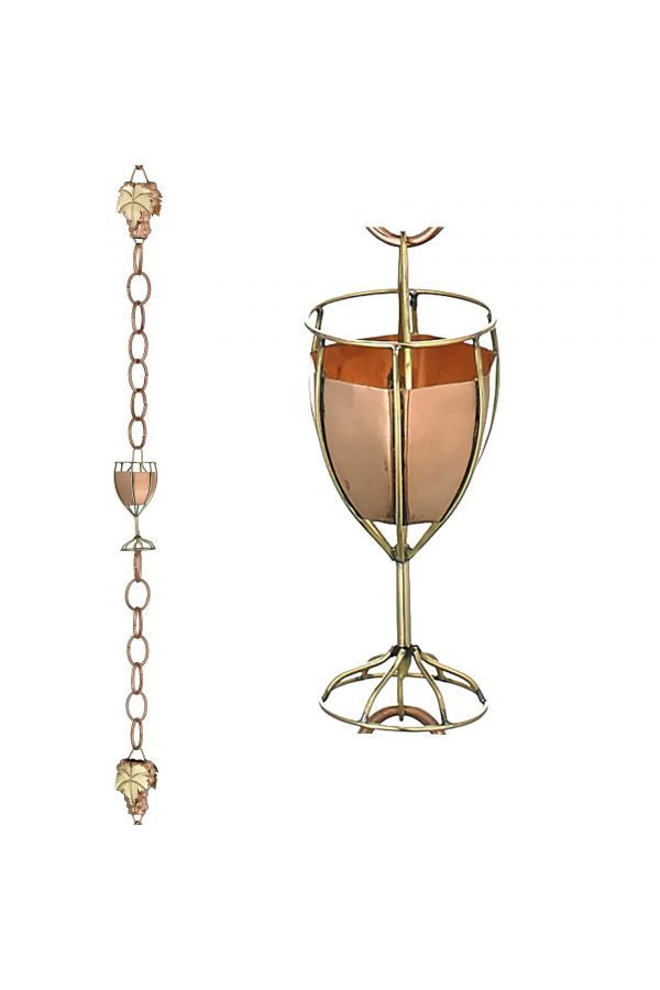 Grapes & Glasses Rain Chain