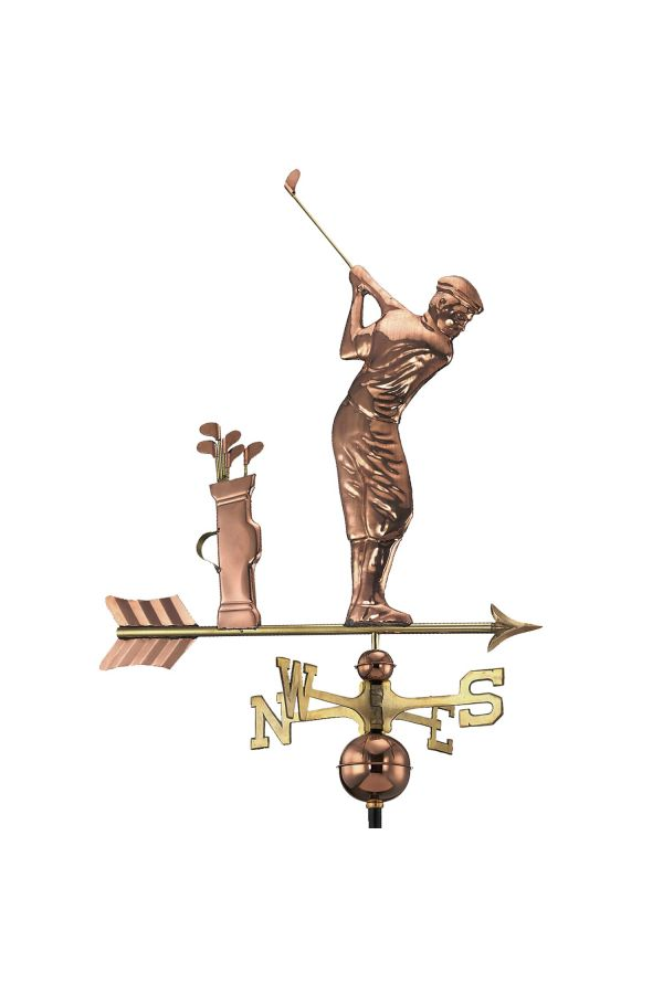 Golfer Weather Vane