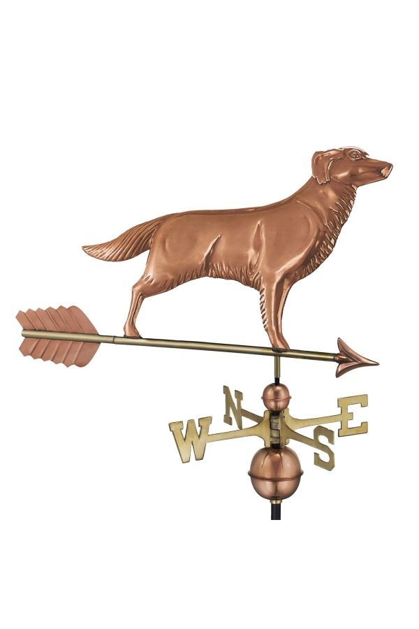 Golden Retriever Weather Vane w/Arrow