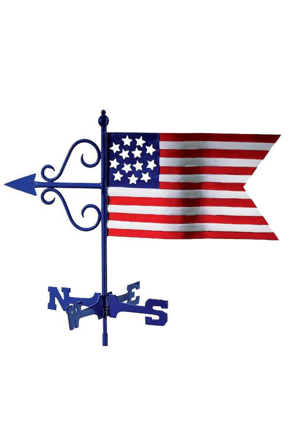 Americana Flag Garden Weather Vane
