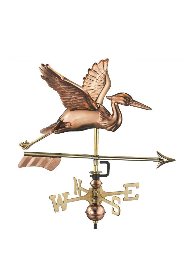 Blue Heron w/Arrow Garden Weather Vane