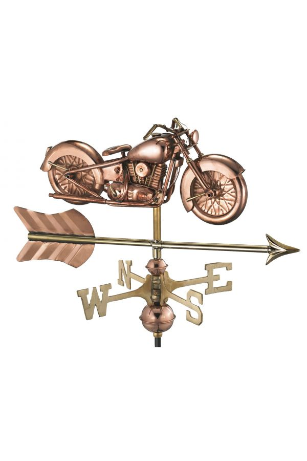 Motorcycle w/Arrow Garden Weather Vane