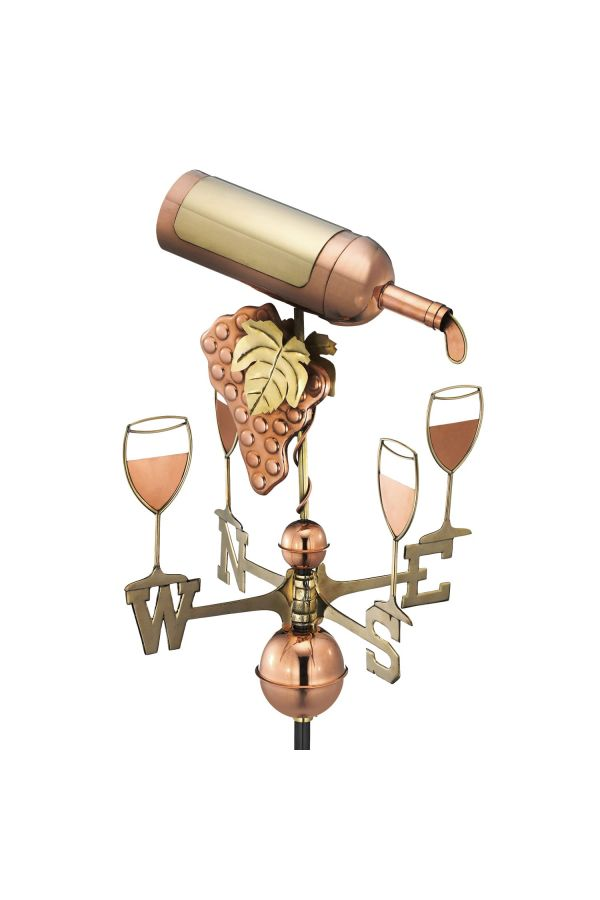Wine Bottle & Glasses Weather Vane