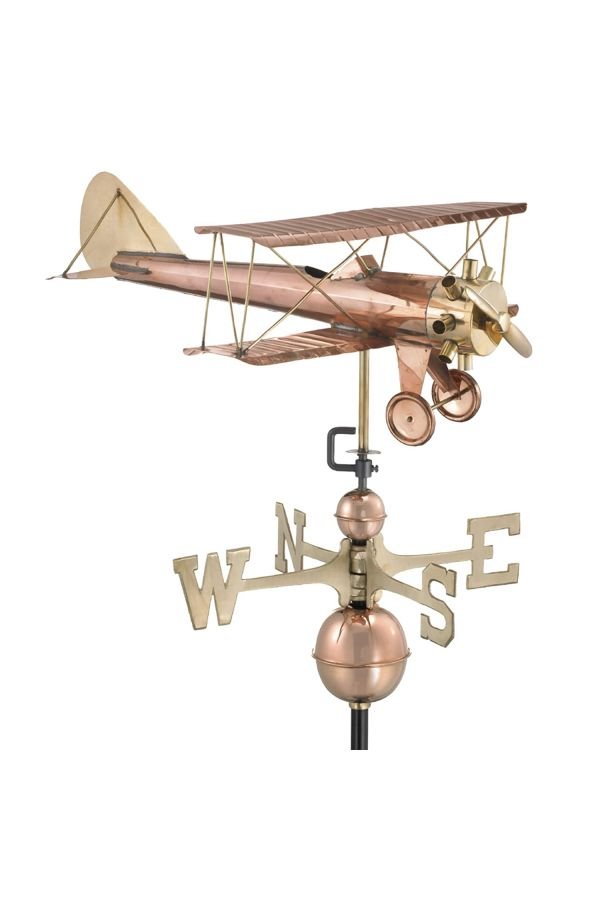 Biplane Weather Vane