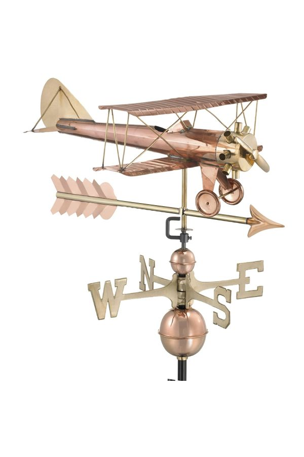 Biplane Weather Vane w/Arrow
