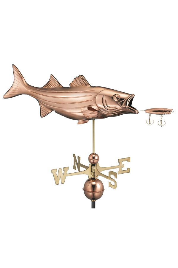 Bass with Lure Weather Vane