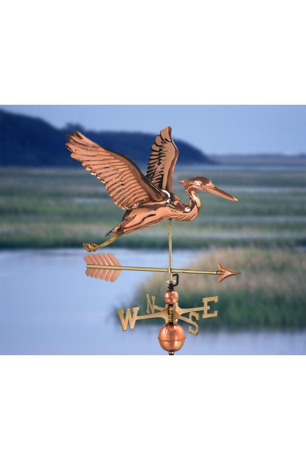 Blue Heron Weather Vane w/Arrow