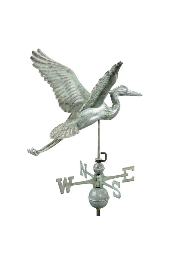 Blue Heron Weather Vane
