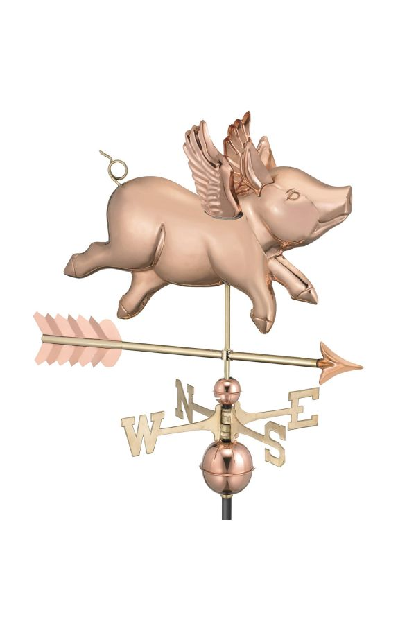 Flying Pig Weather Vane w/Arrow