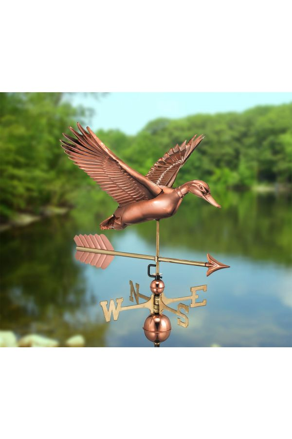 Flying Duck Weather Vane w/Arrow