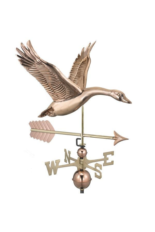 Feathered Goose Weather Vane w/Arrow