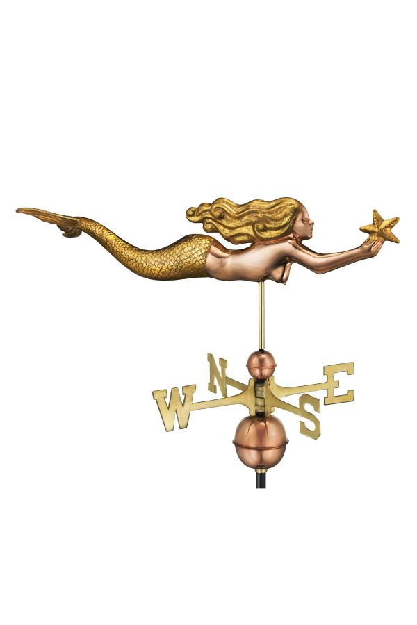 Mermaid with Starfish Weather Vane