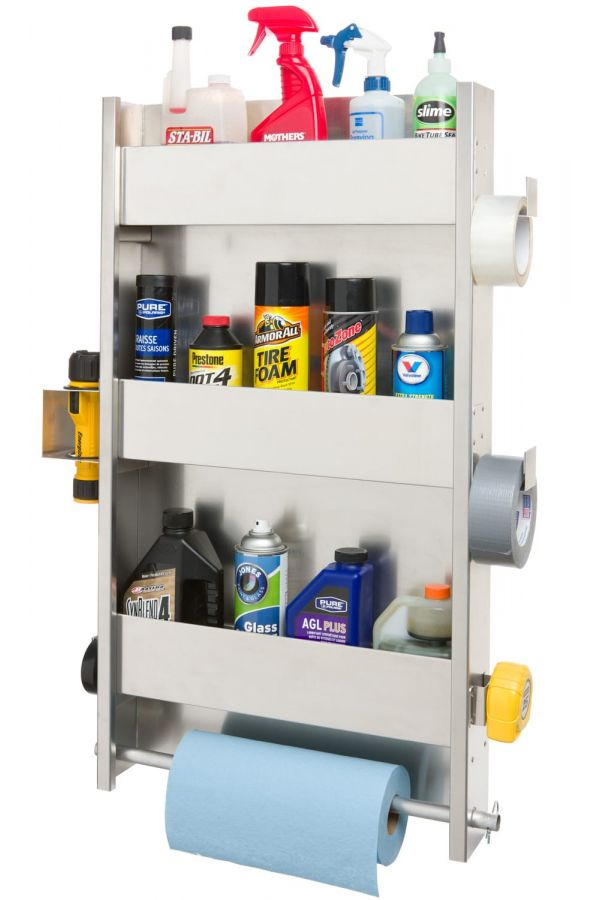 3 Shelf Wall Cabinet System with Paper Towel Holder & Accessories
