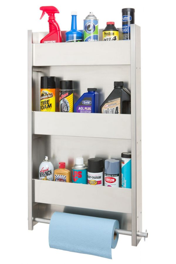 3 Shelf Wall Cabinet System with Paper Towel Holder